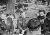 Visegrad area, October 1943: From the left: American Colonel Albert Seitz, British General Charles Armstrong, General Drazha Mihailovic and British Colonel William Bailey.