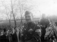 Serbia 1943: Colonel Albert Seitz and Captain Borislav Todorovic (right)