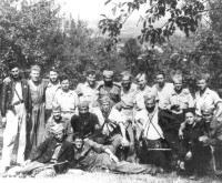 Chetniks and rescued pilots.