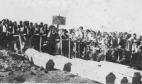 The funeral of a bomber crew, Kragujevac area.