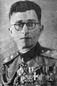Lt. Colonel Drazha Mihailovic with all of his pre-war medals.