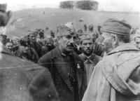 General Mihailovic with officers of 2nd Assault Corps, Ravna Gora, Spring of 1944.