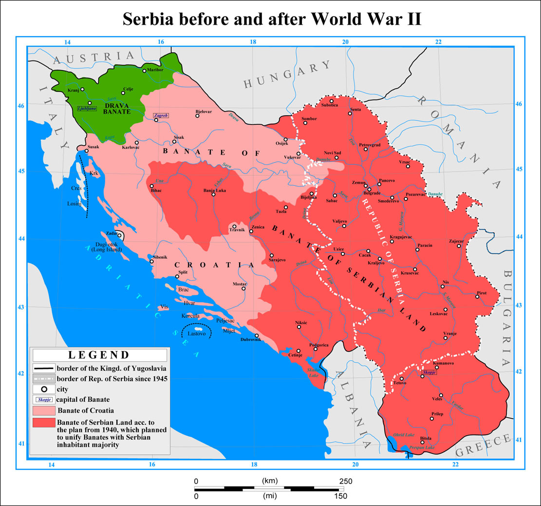Serbia before and after WW2
