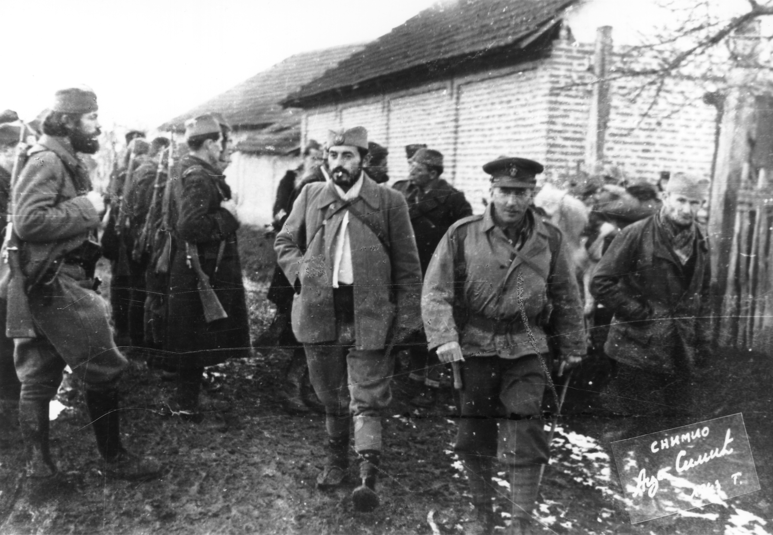 End of November 1943, near Cacak: British Gen. Charles Armstrong and CO of the 2nd Ravna Gora Corps, Capt. Predrag Rakovic